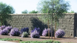 Example of wall installation at Power Ranch in Gilbert Arizona by Proto II Wall Systems